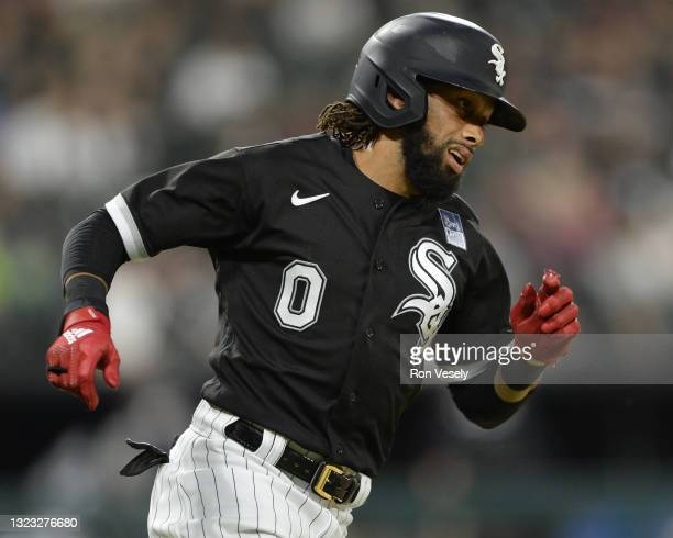 Billy Hamilton of the Chicago White Sox runs the bases against the Detroit Tigers on June 3, 2021 at Guaranteed Rate Field in Chicago, Illinois.