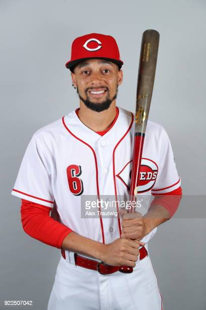Billy Hamilton of the Cincinnati Reds poses during Photo Day on Tuesday February 20 2018 at Goodyear Ballpark in Goodyear Arizona