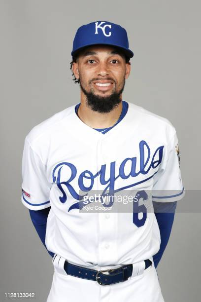 Billy Hamilton of the Kansas City Royals poses during Photo Day on Thursday February 21 2019 at Surprise Stadium in Surprise Arizona