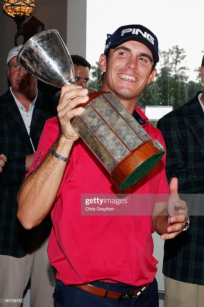 Billy Horschel celebrates after winning the Zurich Classic of New Orleans at TPC Louisiana on April 28, 2013 in Avondale, Louisiana.