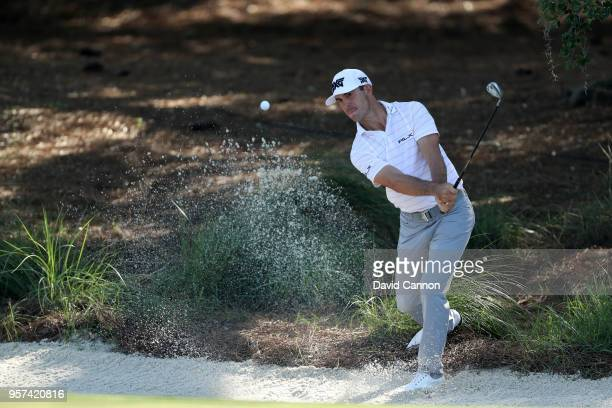 Billy Horschel of the United States plays his third shot on the par 4 14th hole during the second round of the THE PLAYERS Championship on the...