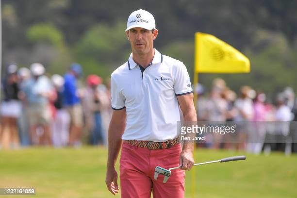Billy Horschel walks on the 15th green during the semifinal match at the World Golf Championships-Dell Technologies Match Play at Austin Country Club...