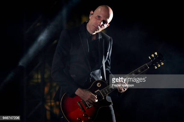 Billy Howerdel of A Perfect Circle performs onstage during the 2018 Coachella Valley Music and Arts Festival Weekend 1 at the Empire Polo Field on...