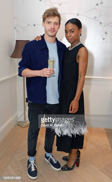 Billy Howle and Pippa BennettWarner attend a sparkling affair at Boodles in celebration of Pippa BennettWarner's 30th birthday and the recent success...