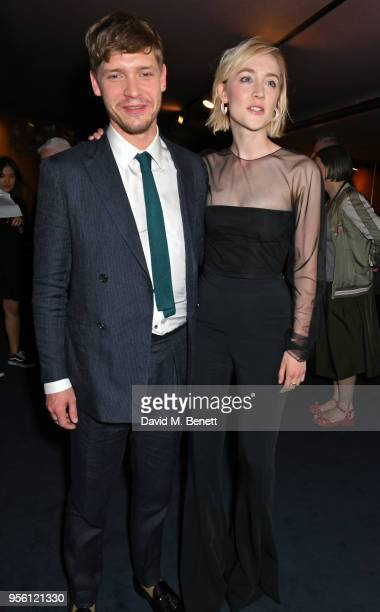 Billy Howle and Saoirse Ronan attend a special screening of On Chesil Beach at The Curzon Mayfair on May 8 2018 in London England