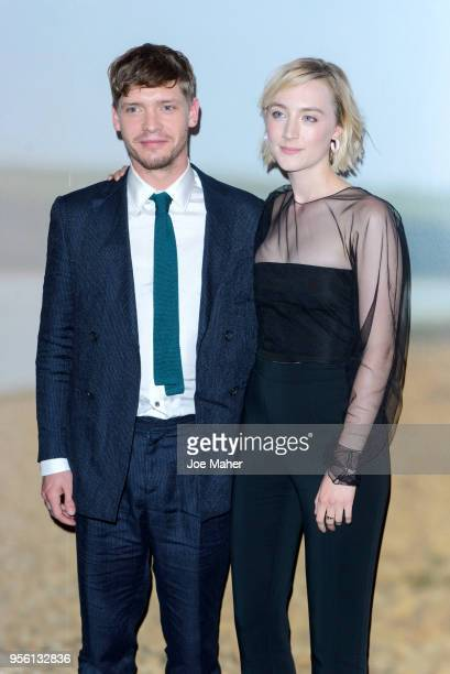 Billy Howle and Saoirse Ronan attend a special screening of 'On Chesil Beach' at The Curzon Mayfair on May 8 2018 in London England