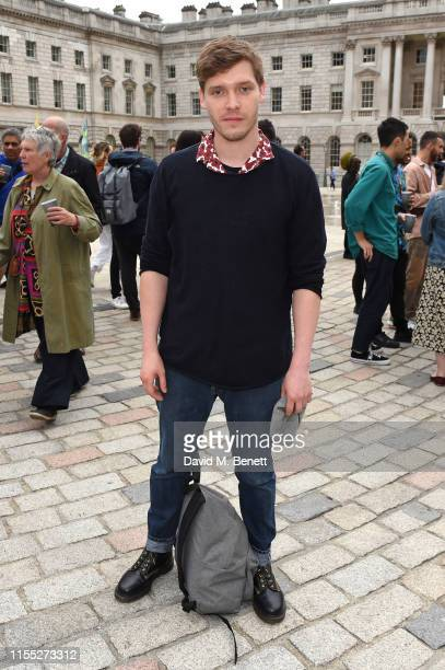Billy Howle attends the launch of Somerset House Summer exhibitions Get Up Stand Up Now and Kaleidoscope on June 11 2019 in London England