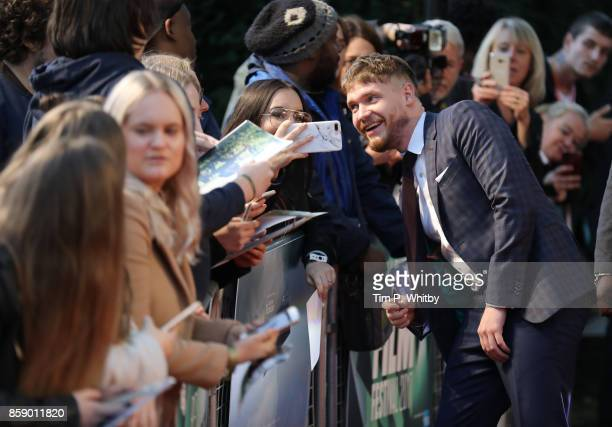 Billy Howle attends the Love Gala European Premiere of 'On Chesil Beach' during the 61st BFI London Film Festival on October 8 2017 in London England