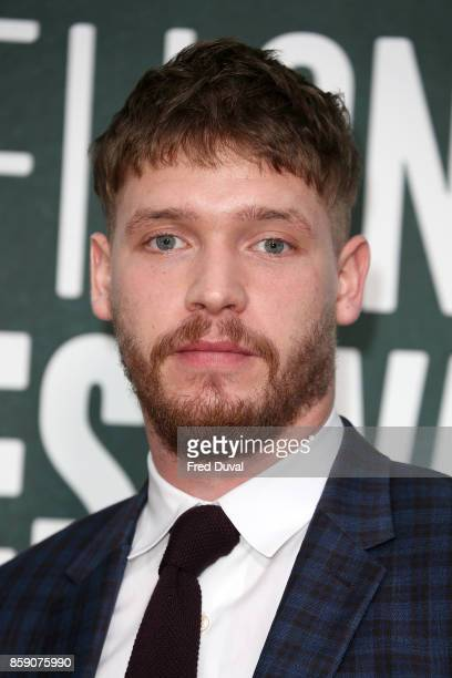 Billy Howle attends the 'On Chesil Beach' European Premiere during the 61st BFI London Film Festival at Embankment Gardens Cinema on October 8 2017...