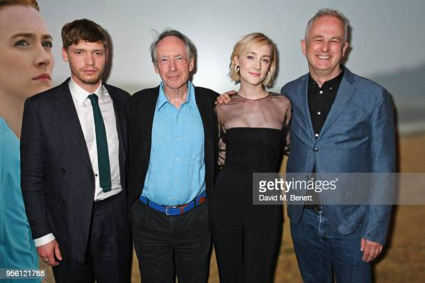 Billy Howle author Ian McEwan Saoirse Ronan and director Dominic Cooke attend a special screening of On Chesil Beach at The Curzon Mayfair on May 8...