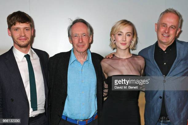 Billy Howle author Ian McEwan Saoirse Ronan and director Dominic Cooke attend a special screening of 'On Chesil Beach' at The Curzon Mayfair on May 8...