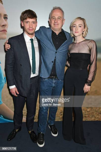 Billy Howle director Dominic Cooke and Saoirse Ronan attend a special screening of On Chesil Beach at The Curzon Mayfair on May 8 2018 in London...