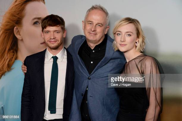 Billy Howle director Dominic Cooke and Saoirse Ronan attend a special screening of 'On Chesil Beach' at The Curzon Mayfair on May 8 2018 in London...