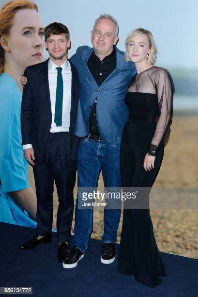 Billy Howle Dominic Cooke and Saoirse Ronan attend a special screening of 'On Chesil Beach' at The Curzon Mayfair on May 8 2018 in London England