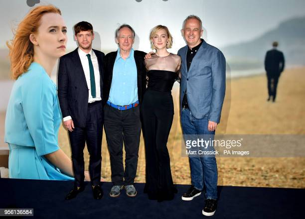 Billy Howle Ian McEwan Saoirse Ronan and Dominic Cooke attending a special screening of On Chesil Beach at the Curzon Mayfair London
