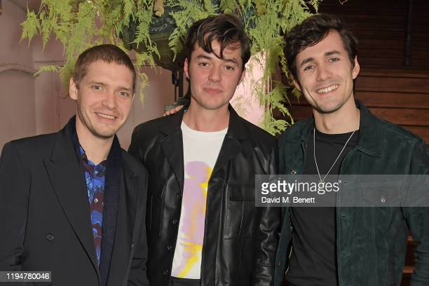 Billy Howle wearing Paul Smith Jack Bannon wearing Paul Smith and Jonah HauerKing wearing Paul Smith attend an intimate dinner in celebration of 50...