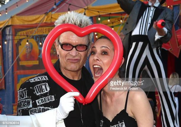 Billy Idol and China Chow attend Moschino Spring/Summer 19 Menswear and Women's Resort Collection at the Los Angeles Equestrian Center on June 8 2018...