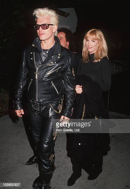 Billy Idol and date during Starlight Foundation Benefit at 20/20 Club in Beverly Hills California United States