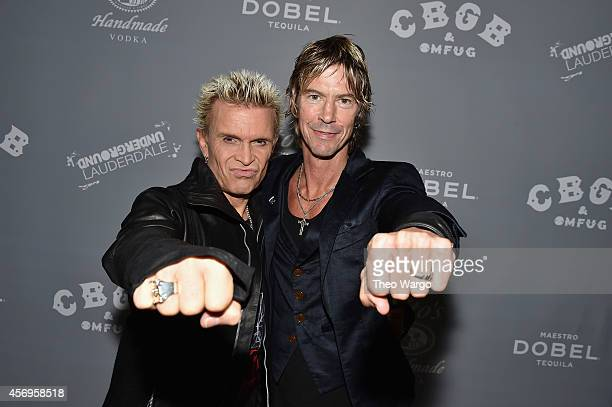 Billy Idol and Duff McKagan attend CBGB Music & Film Festival 2014 HQ Kickoff event with Keynote Speaker Billy Idol on October 9, 2014 in New York...