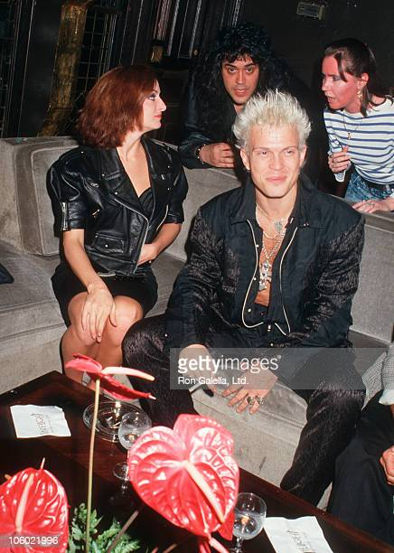 Billy Idol and guests during Billy Idol Sighted at The Limelight Club in New York City June 2 1987 at The Limelight Club in New York City New York...