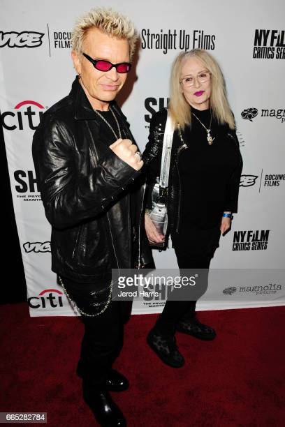 Billy Idol and Penelope Spheeris arrive at the Premiere of 'SHOT The PsychoSpiritual Mantra of Rock' at Pacific Theatres at The Grove on April 5 2017...