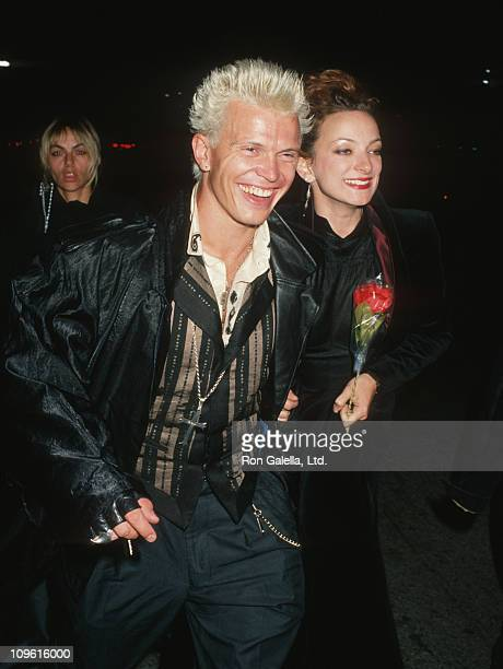 Billy Idol and Perri Lister during Arriving at The Forum in Los Angeles to attend the Eddie Murphy concert performance at The Forum in Los Angeles...