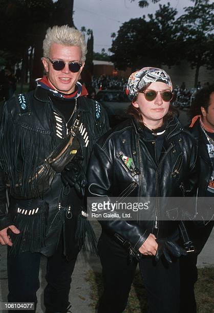 Billy Idol and Perri Lister during Love Ride 5 Benefit for Muscular Dystrophy Association November 13 1988 at Harley Davidson of Glendale in Glendale...