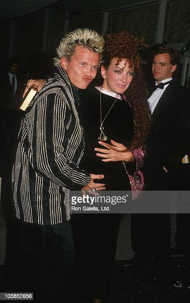 Billy Idol and Perri Lister during The 45th Annual Golden Globe Awards at Beverly Hilton Hotel in Beverly Hills California United States