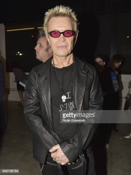 Billy Idol attends Billy Morrison and Plastic Jesus's 'Anesthesia The Art Of Oblivion' opening reception at Gibson Brands Sunset on February 24 2017...