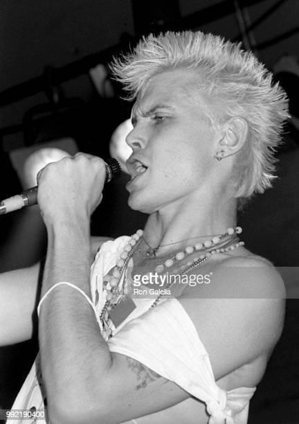 Billy Idol attends Perri Lister Birthday Party on April 10 1984 at the Cat Club in New York City