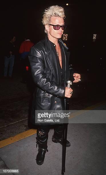 Billy Idol during Billy Idol Sighted at Bar One Nightclub in West Hollywood April 19 1991 at Bar One Nightclub in West Hollywood California United...