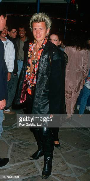 """Billy Idol during Billy Idol Sighting at Premiere of """"Action Jackson"""" - February 11, 1988 at Mann Village Theater in Westwood, California, United..."""