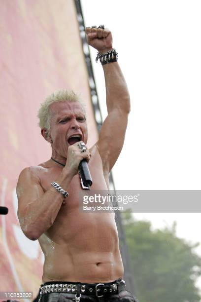 Billy Idol during Lollapalooza 2005 Day One at Grant Park in Chicago Illinois United States
