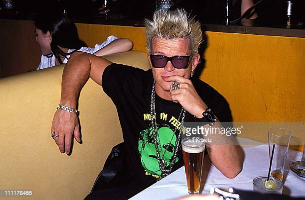 Billy Idol during Sting - 1991 post concert party in Los Angeles, California, United States.