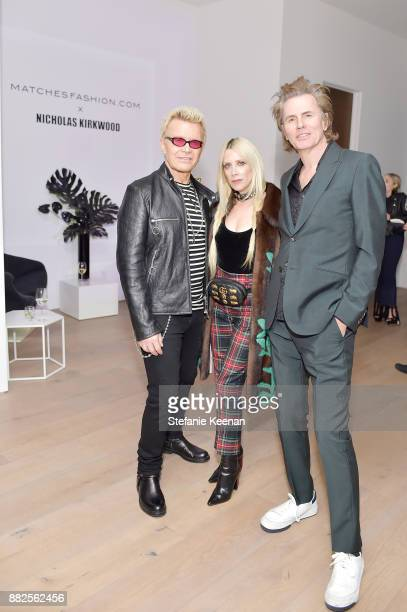 Billy Idol Gela NashTaylor and John Taylor attend Nicholas Kirkwood and China Chow Host A Dinner For Matches Fashion on November 29 2017 in Los...