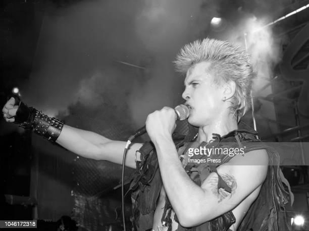 Billy Idol in concert circa 1983 in New York City.