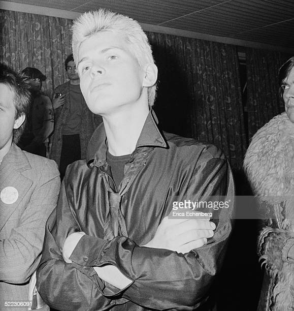 Billy Idol in the audience at a punk gig, London, 1976.