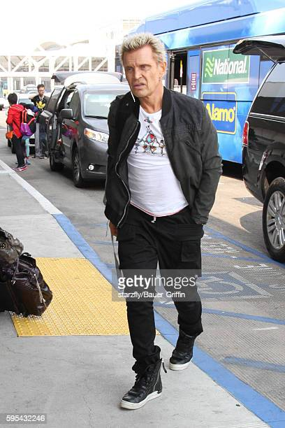 Billy Idol is seen at LAX on August 25 2016 in Los Angeles California