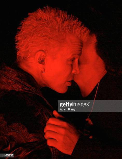 Billy Idol is told his services are not required after a power failure before the start of the 2002 NRL Grand Final played between the Sydney...