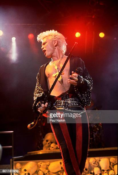 Billy Idol performing at the Alpine Valley Music Theater in East Troy, Wisconsin, September 1, 1990.