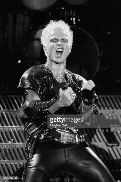 Billy Idol performing at the Oakland Coliseum Arena on March 23 1984