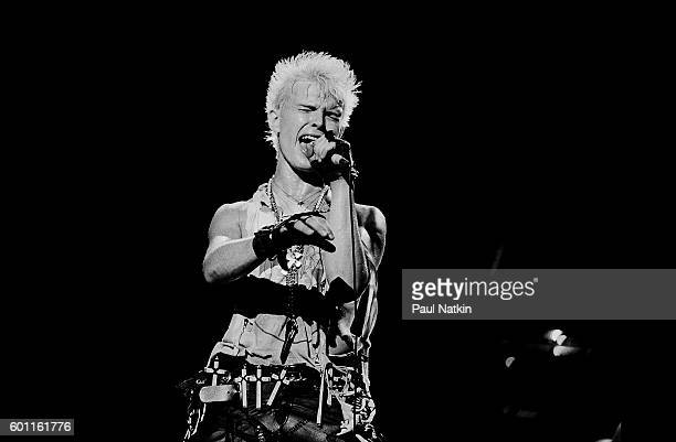 Billy Idol performing at the Poplar Creek Music Theater in Hoffman Estates, Illinois, June 1, 1984.