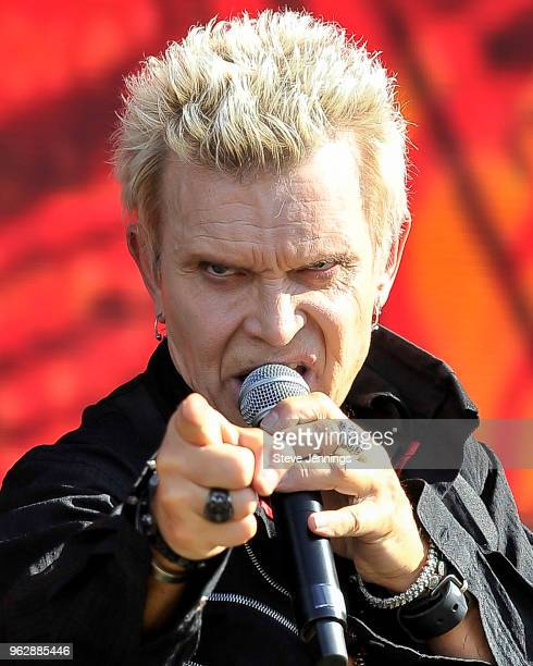 Billy Idol performs at BottleRock Napa Valley Music Festival at Napa Valley Expo on May 26 2018 in Napa California