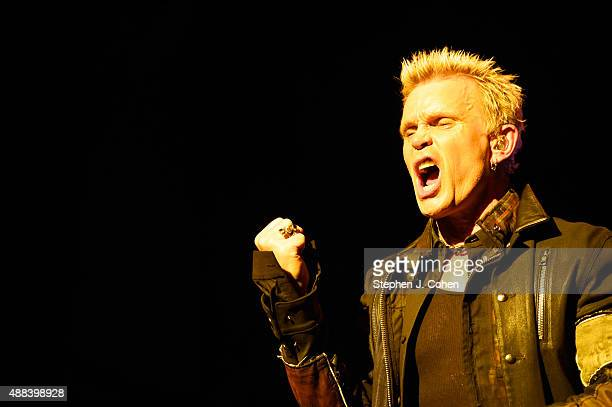 Billy Idol performs at Iroquois Amphitheater on September 15, 2015 in Louisville, Kentucky.