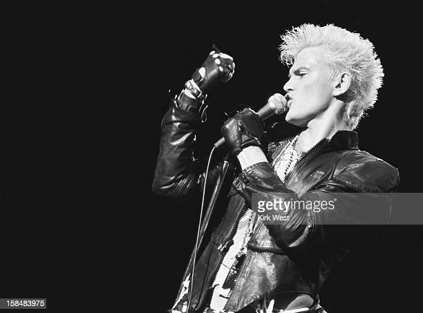 Billy Idol performs, Chicago, Illinois, 1980s.