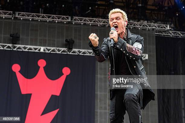 Billy Idol performs during Austin City Limits Music Festival at Zilker Park on October 9 2015 in Austin Texas