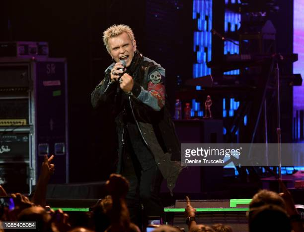 Billy Idol performs during opening night of Las Vegas 2019 rresidency at Palms Casino Resort his on January 18, 2019 in Las Vegas, Nevada.