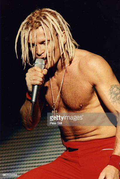 Billy Idol performs on stage at The National Bowl on September 18th 1993 in Milton Keynes United Kingdom