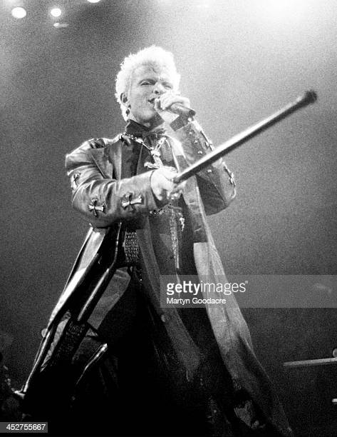 Billy Idol performs on stage at Wembley Arena London United Kingdom December 1990