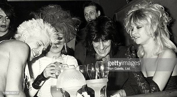 Billy Idol Perri Lister Ron Wood and wife during Billy Idol Performs at The Cat Club in New York City April 10 1984 at The Cat Club in New York City...